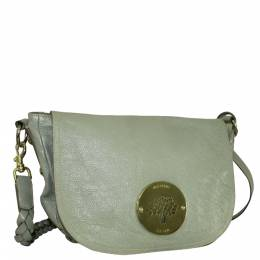 Mulberry Grey Leather Daria Shoulder Bags 300277