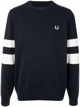 Fred Perry пуловер с полосками и логотипом K9553