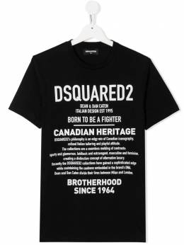 Dsquared2 Kids футболка с логотипом DQ046WD00XGT