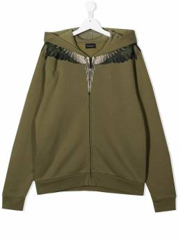 Marcelo Burlon County Of Milan Kids худи на молнии принтом Wings 22060020
