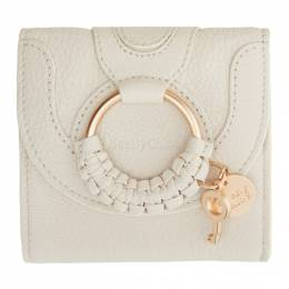See by Chloe Off-White Hana Square Wallet CHS20AP923305