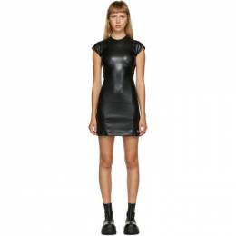 Misbhv Black Faux-Leather Short Dress 120W151