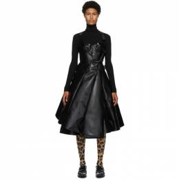 Junya Watanabe Black and White Faux-Leather Tulle Dress JF-0009-051