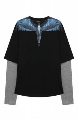 Хлопковый лонгслив 20I/B/MB/1143/0010/8-14Y Marcelo Burlon Kids of Milan
