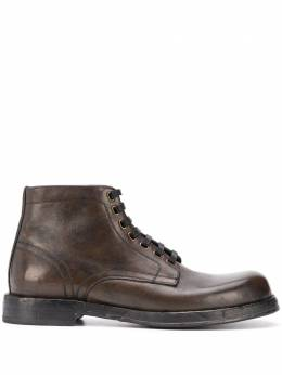 Dolce and Gabbana chunky lace-up leather boots A60306AW765