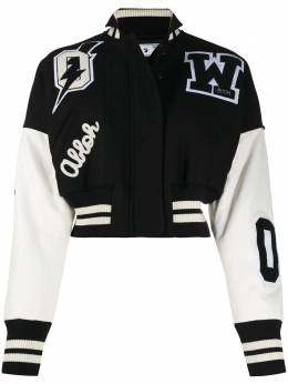 Off-White CROPPED BOMBER BLACK WHITE OWEH016F20FAB0011001