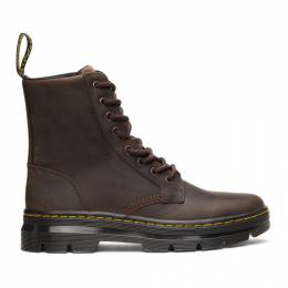 Dr. Martens Brown Combs Leather Boots 26006207