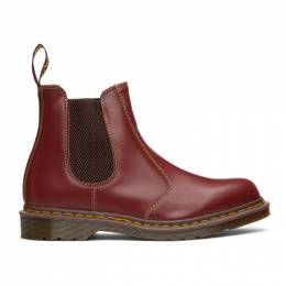 Dr. Martens Burgundy Made In England 2976 Chelsea Boots 25747601