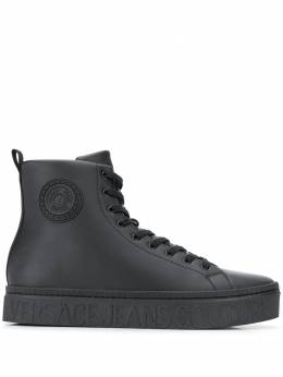 Versace Jeans Couture logo hi-top sneakers EE0YZASD6E71603