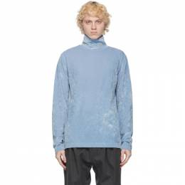 Dries Van Noten Blue Velvet Turtleneck 21134-1316-514