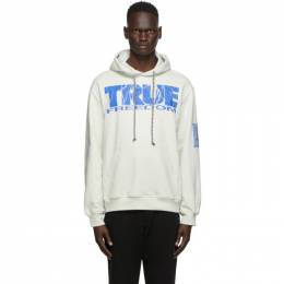 McQ Alexander McQueen Off-White True Freedom Relaxed Hoodie 624727RPJ41
