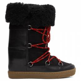 Isabel Marant Black Shearling Nowly Boots 00MBO0275-00M105S