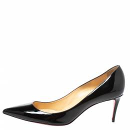 Christian Louboutin Black Patent Leather Kate Pumps Size 41 326752