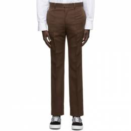 Wooyoungmi Brown Satin Trousers PT08