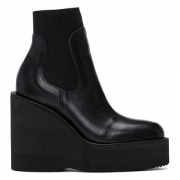 Sacai Black Wedge Ankle Boots 20-05251