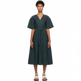 3.1 Phillip Lim Blue Textured Faille Dress F202-9048TFA