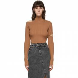 Brown Knit Slit Jessica Turtleneck ATB489W Andersson Bell