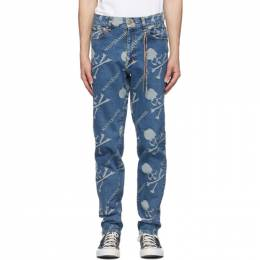 Mastermind World Blue Monogram Water-Repellent Jeans MW20S05-PA002-000