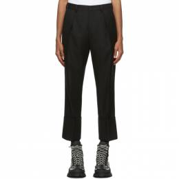 Wooyoungmi Black Wool Pleated Trousers PT02