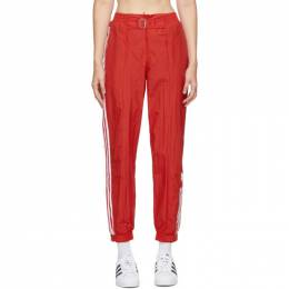 Adidas Originals Red Paolina Russo Edition Striped Track Pants GF0268