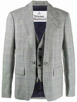Vivienne Westwood layered single-breasted blazer 2301001311569LRA201