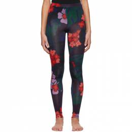 Dries Van Noten Purple and Red Floral Leggings 1615 Have PR