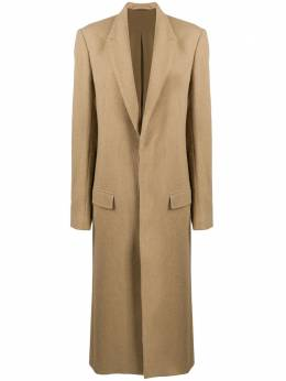 Haider Ackermann single-breasted long coat 2041122206