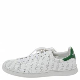 Vetements White Perforated Leather Low Top Sneakers Size 41 328429