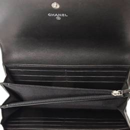 Chanel Black Patent Leather Coco Boy Flap Wallet 327692