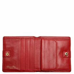 Dior Red Cannage Leather Wallet 327786