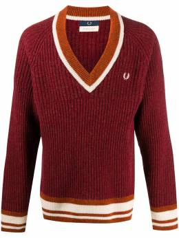 Fred Perry v-neck wool jumper SK900435WOOLB48