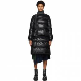 Sacai Black Quilted Long Puffer Coat 20-05245