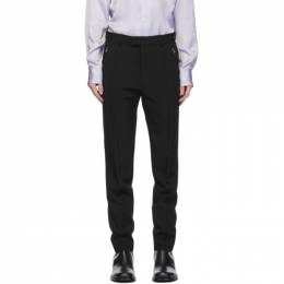 Dries Van Noten Black Zip Trousers 20917-1031-900