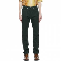 Dries Van Noten Green Corduroy Slim Trousers 22413-1239-605