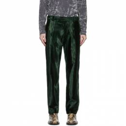 Dries Van Noten Green Patterned Trousers 20932-1250-605