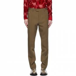 Dries Van Noten Tan Zip Trousers 20917-1031-104