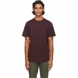Norse Projects Burgundy Niels Standard T-Shirt N01-0362