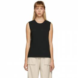Raquel Allegra Black Muscle Tank Top Y04-1792