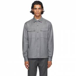 Z Zegna Grey Wool Shirt Jacket 6 805820 ZCOT2