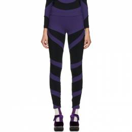 Black and Purple Lycra Leggings PWW201303 Paula Canovas Del Vas