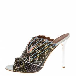 Malone Souliers Multicolor Python Leather Donna Open Toe Sandals Size 41 331884