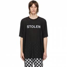 SSENSE Exclusive Black Razor T-Shirt C3-20499 Stolen Girlfriends Club