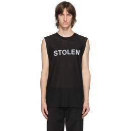 SSENSE Exclusive Black Razor Sleeveless T-Shirt C3-20498 Stolen Girlfriends Club