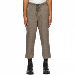 Greg Lauren Brown Wool Houndstooth Trousers SS20M211