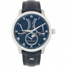 Blue Masterpiece Moon Retrograde Watch Maurice Lacroix MP6608-SS001-410-1