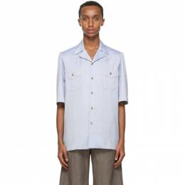 Gucci Blue Oxford Short Sleeve Shirt 628320 ZACE5