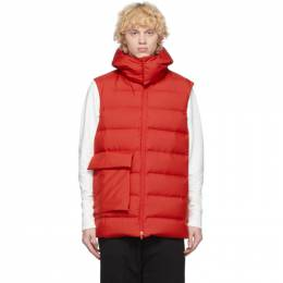 Y-3 Red Down Classic Puffy Vest GL0970