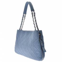 Chanel Blue Caviar Leather Chain Shoulder Bag 331500