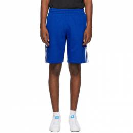 Adidas Originals Blue 3D Trefoil 3-Stripes Shorts GN4303