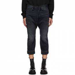 R13 Black Staley Cross Over Jeans R13M8006-394